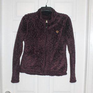 Ariat Sherpa Teddy Bear Zip Up Jacket Sweater M